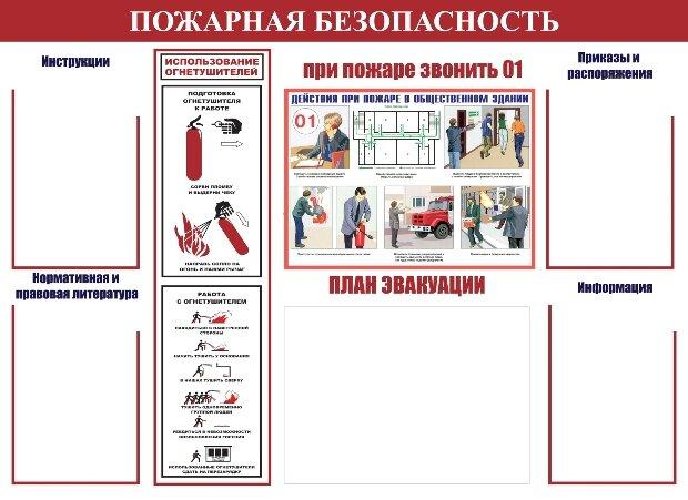 правила пожарной безопасности для уголка потребителя образец