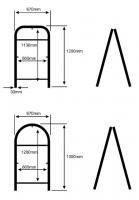 размеры рам для штендеров и изображений
