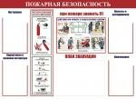 информационный стенд пожарная безопасность